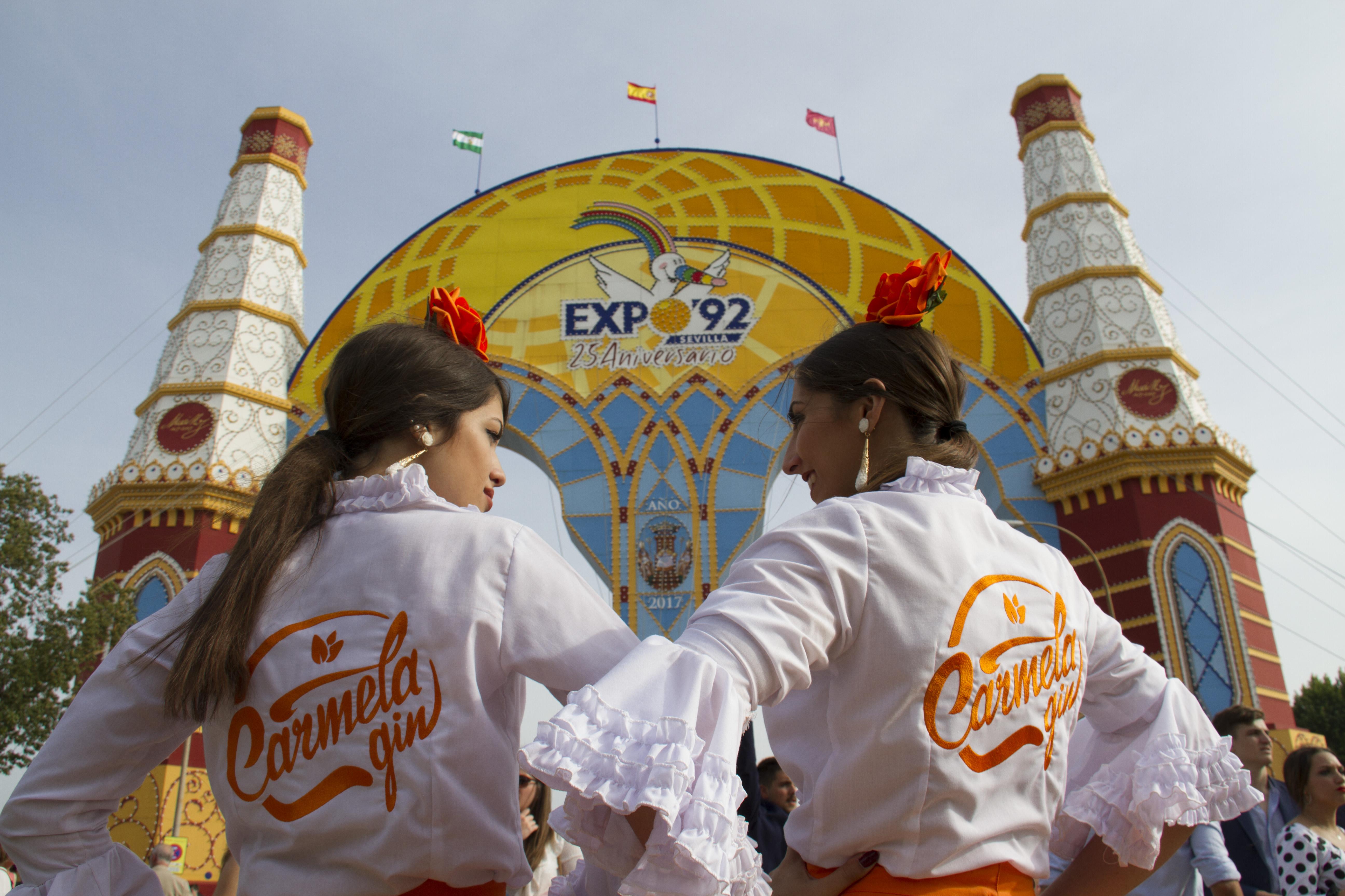 Carmela Gin presente en la Feria de Abril