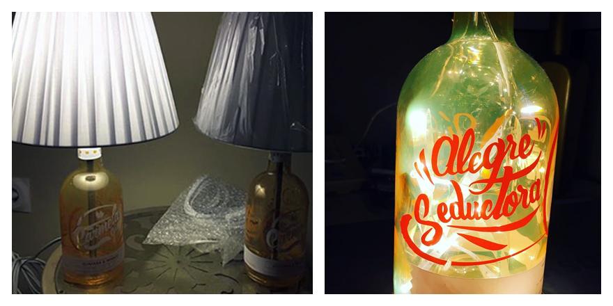 Lámparas botellas Carmela Gin